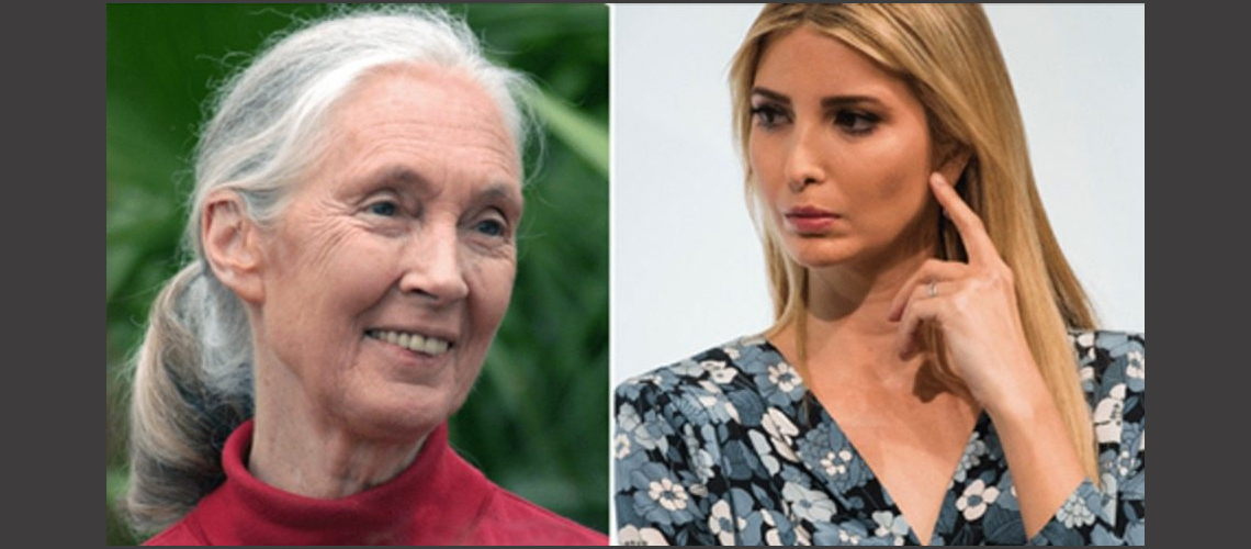 Jane Goodall and Ivanka Trump